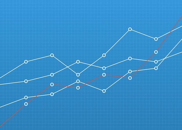 Gráfico gráfico financeiro. conceito de negócios Vetor Premium