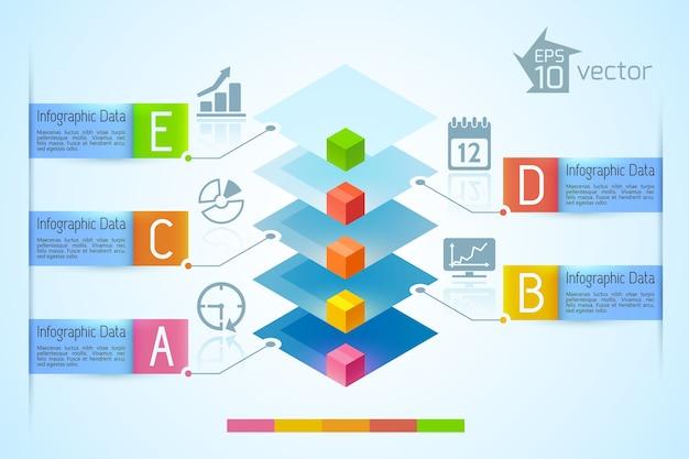 Gráfico infográfico de negócios