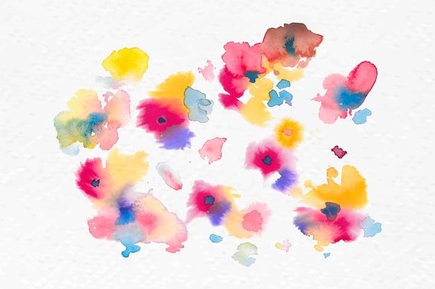 Gráfico sazonal de flores coloridas em aquarela de vetor