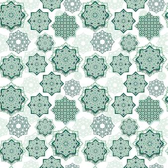 Gráfico sem emenda do teste padrão do festival da arte geométrica islâmica.