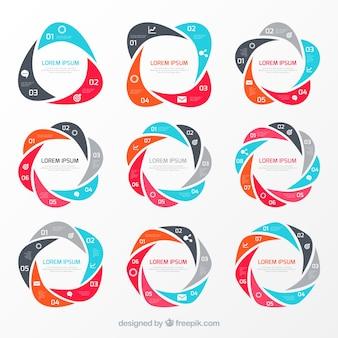 Gráficos circulares infográfico