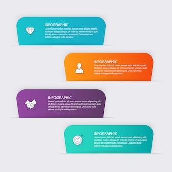 Gráficos coloridos de informações para suas apresentações de negócios.