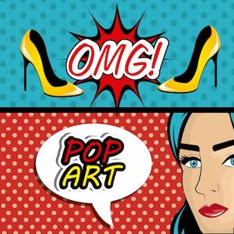 Gráficos de arte pop dos desenhos animados