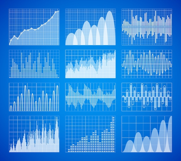 Gráficos de dados estatísticos e de negócios