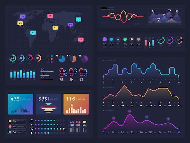 Gráficos de fluxo de trabalho e diagramas, infográfico