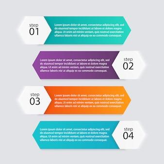 Gráficos de informação coloridos para suas apresentações de negócios.