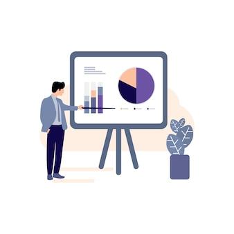 Gráficos de negócios, crescimento dos negócios, ícone do gráfico de progresso, ícone do sucesso, negócios bem sucedidos, homens de negócios, gráficos, ícone,