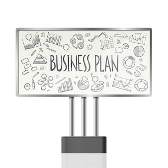 Gráficos de negócios em billboard