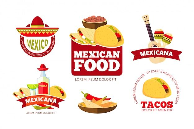 Gráficos de restaurante mexicano vintage