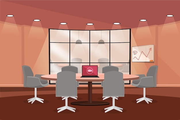 Gráficos e plano de fundo de videoconferência do office