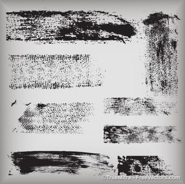 Gráficos texturas sujas vetor