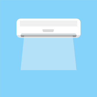 Gráficos vetoriais de brisa de refrigeração de ar condicionado