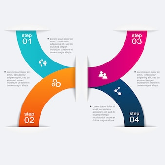 Gráficos vetoriais de informação colorida para suas apresentações de negócios.