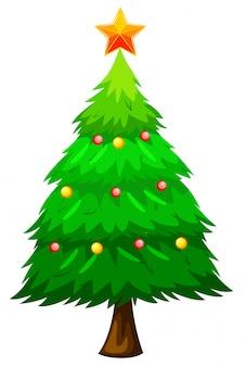 Grande árvore de natal verde