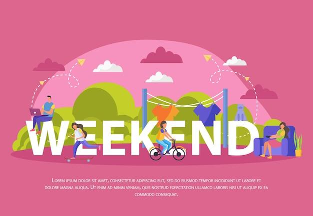 Grande banner de fim de semana