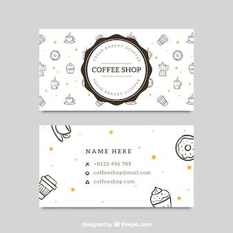 Grande cartão corporativo para a cafetaria