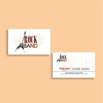 Grande cartão para banda de rock