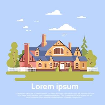 Grande casa moderna residência estate com jardim
