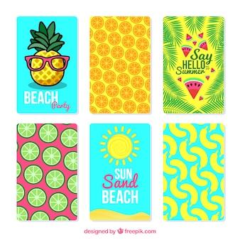 Grande coleção de cartões de verão