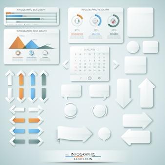 Grande coleção de diferentes elementos infográfico