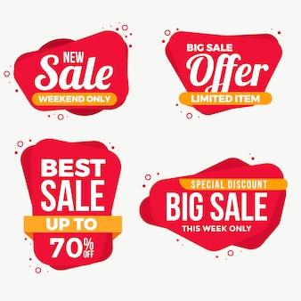 Grande coleção de etiquetas de rótulos de venda