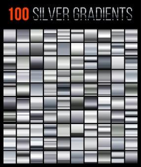 Grande coleção de fundos gradientes de prata.