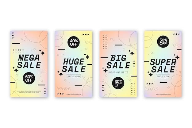 Grande coleção de histórias instagram em promoção
