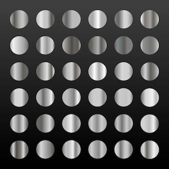 Grande conjunto de 36 gradientes de prata