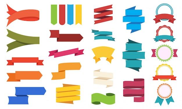 Grande conjunto de etiquetas de cores