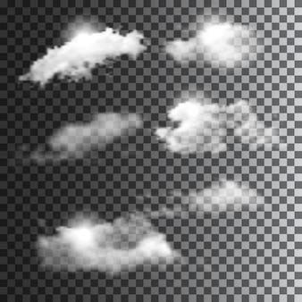Grande conjunto de nuvens transparentes.