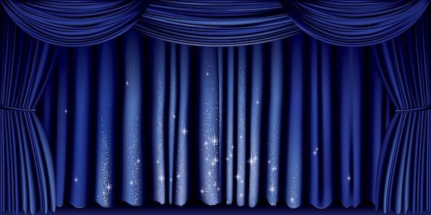 Grande cortina azul