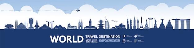 Grande destino de viagem ao redor do mundo