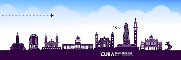 Grande destino de viagem em cuba