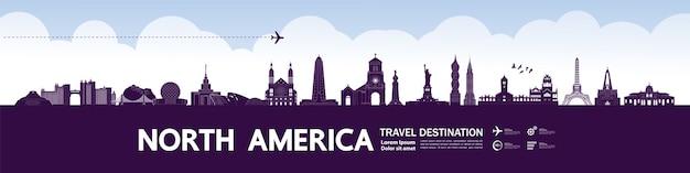Grande destino de viagem na américa do norte