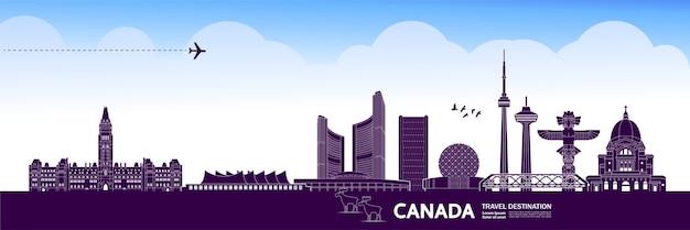 Grande destino de viagem no canadá