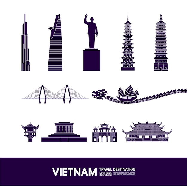 Grande destino de viagem no vietnã