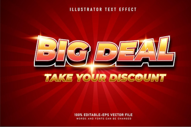 Grande efeito de texto 3d