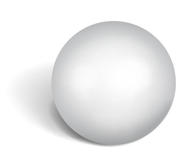 Grande esfera branca com sombra