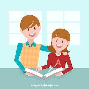 Grande fundo com a aprendizagem de crianças sorridentes