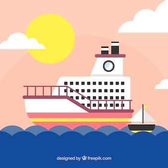 Grande, fundo, cruzeiro, liso, desenho