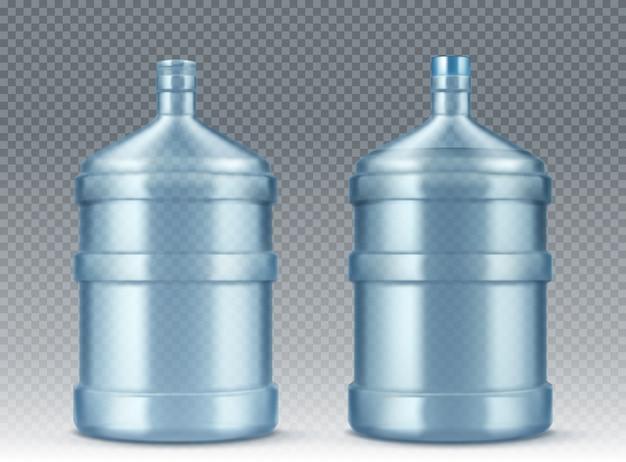 Grande garrafa vazia para refrigerador de água realista