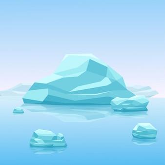 Grande iceberg azul