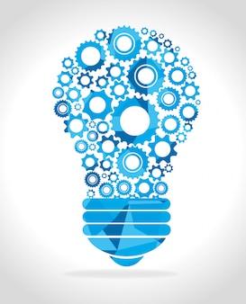 Grande ideia, criatividade e inteligência