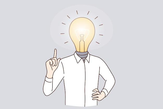 Grande ideia de negócio e conceito de inovação