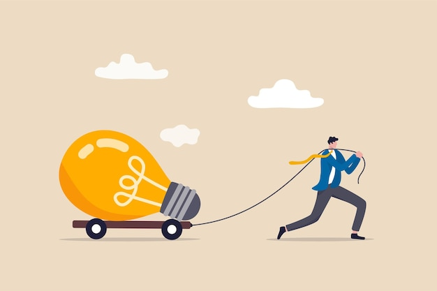 Grande ideia de negócio, inovação ou inspiração para começar novos negócios