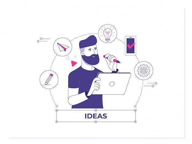Grande ideia para lançamento real por meio da análise do projeto