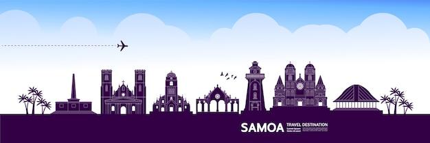 Grande ilustração do destino de viagem de samoa.