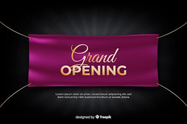 Grande inauguração em breve, design de anúncio