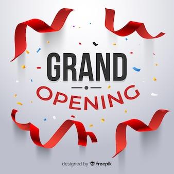 Grande inauguração realista com confete