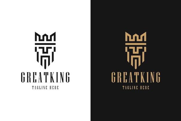 Grande inspiração para o logotipo minimalista do rei